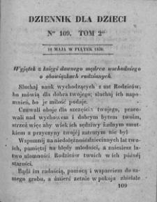 Dziennik dla Dzieci. 1830. T. 2. Nr 109