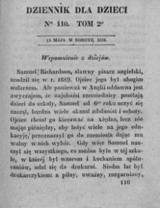Dziennik dla Dzieci. 1830. T. 2. Nr 110