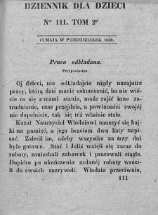 Dziennik dla Dzieci. 1830. T. 2. Nr 111