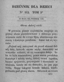 Dziennik dla Dzieci. 1830. T. 2. Nr 112