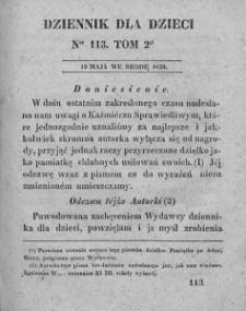 Dziennik dla Dzieci. 1830. T. 2. Nr 113