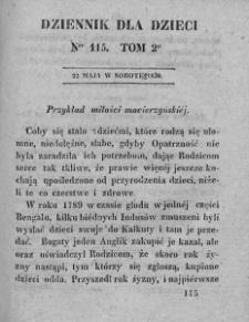Dziennik dla Dzieci. 1830. T. 2. Nr 115