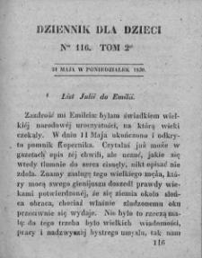 Dziennik dla Dzieci. 1830. T. 2. Nr 116