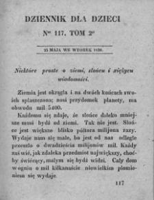 Dziennik dla Dzieci. 1830. T. 2. Nr 117