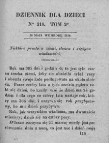 Dziennik dla Dzieci. 1830. T. 2. Nr 118