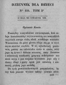 Dziennik dla Dzieci. 1830. T. 2. Nr 119