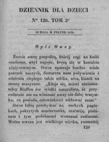 Dziennik dla Dzieci. 1830. T. 2. Nr 120