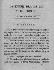 Dziennik dla Dzieci. 1830. T. 2. Nr 121