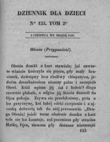 Dziennik dla Dzieci. 1830. T. 2. Nr 123