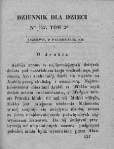 Dziennik dla Dzieci. 1830. T. 2. Nr 127