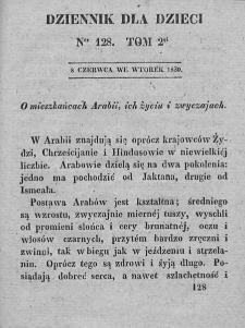 Dziennik dla Dzieci. 1830. T. 2. Nr 128