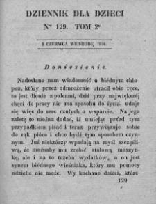 Dziennik dla Dzieci. 1830. T. 2. Nr 129