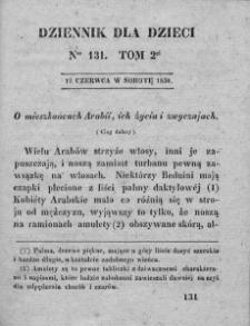 Dziennik dla Dzieci. 1830. T. 2. Nr 131