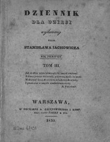 Dziennik dla Dzieci. 1830. T. 3. Nr 146