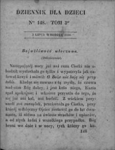Dziennik dla Dzieci. 1830. T. 3. Nr 148