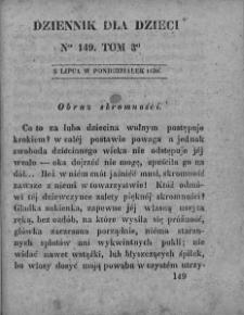 Dziennik dla Dzieci. 1830. T. 3. Nr 149