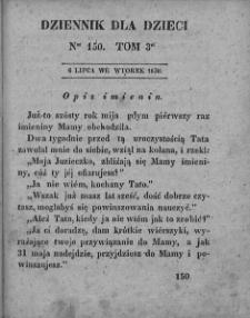 Dziennik dla Dzieci. 1830. T. 3. Nr 150