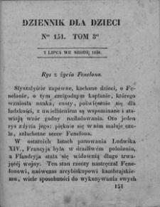 Dziennik dla Dzieci. 1830. T. 3. Nr 151