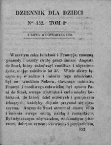 Dziennik dla Dzieci. 1830. T. 3. Nr 152