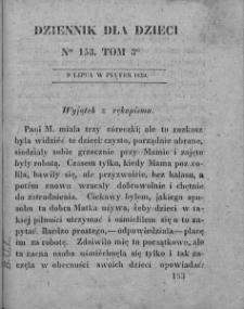 Dziennik dla Dzieci. 1830. T. 3. Nr 153