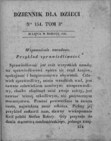 Dziennik dla Dzieci. 1830. T. 3. Nr 154