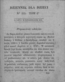 Dziennik dla Dzieci. 1830. T. 3. Nr 155