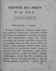 Dziennik dla Dzieci. 1830. T. 3. Nr 156