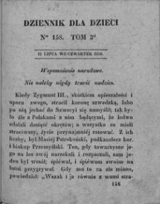 Dziennik dla Dzieci. 1830. T. 3. Nr 158