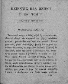 Dziennik dla Dzieci. 1830. T. 3. Nr 159