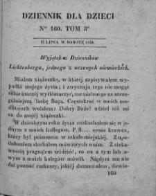 Dziennik dla Dzieci. 1830. T. 3. Nr 160