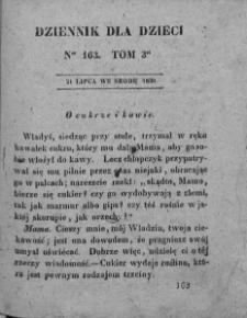 Dziennik dla Dzieci. 1830. T. 3. Nr 163