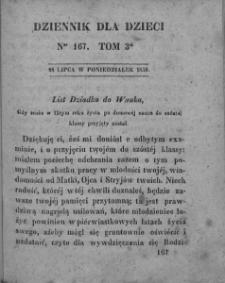 Dziennik dla Dzieci. 1830. T. 3. Nr 167