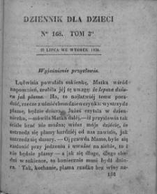Dziennik dla Dzieci. 1830. T. 3. Nr 168