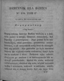 Dziennik dla Dzieci. 1830. T. 3. Nr 170
