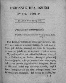Dziennik dla Dzieci. 1830. T. 3. Nr 172