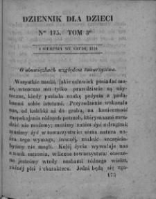 Dziennik dla Dzieci. 1830. T. 3. Nr 175