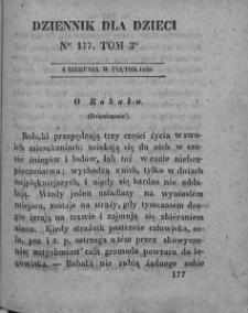 Dziennik dla Dzieci. 1830. T. 3. Nr 177