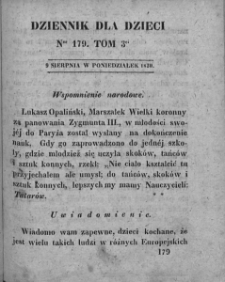 Dziennik dla Dzieci. 1830. T. 3. Nr 179
