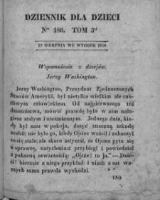 Dziennik dla Dzieci. 1830. T. 3. Nr 180