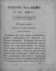 Dziennik dla Dzieci. 1830. T. 3. Nr 181
