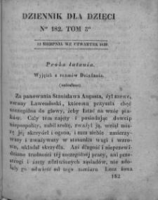 Dziennik dla Dzieci. 1830. T. 3. Nr 182
