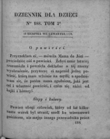 Dziennik dla Dzieci. 1830. T. 3. Nr 188