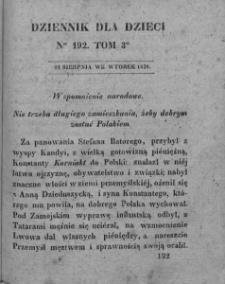 Dziennik dla Dzieci. 1830. T. 3. Nr 192