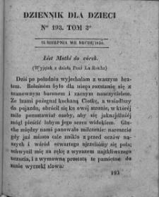 Dziennik dla Dzieci. 1830. T. 3. Nr 193
