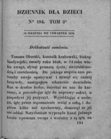 Dziennik dla Dzieci. 1830. T. 3. Nr 194