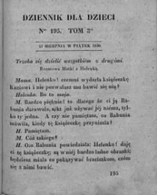 Dziennik dla Dzieci. 1830. T. 3. Nr 195