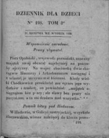 Dziennik dla Dzieci. 1830. T. 3. Nr 198