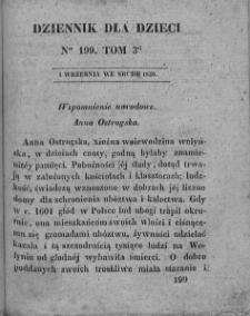 Dziennik dla Dzieci. 1830. T. 3. Nr 199