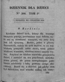 Dziennik dla Dzieci. 1830. T. 3. Nr 200