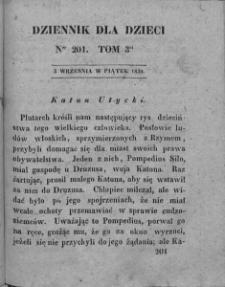 Dziennik dla Dzieci. 1830. T. 3. Nr 201